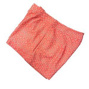Francesca's Alya Lace Eyelet Dress Shorts Coral L